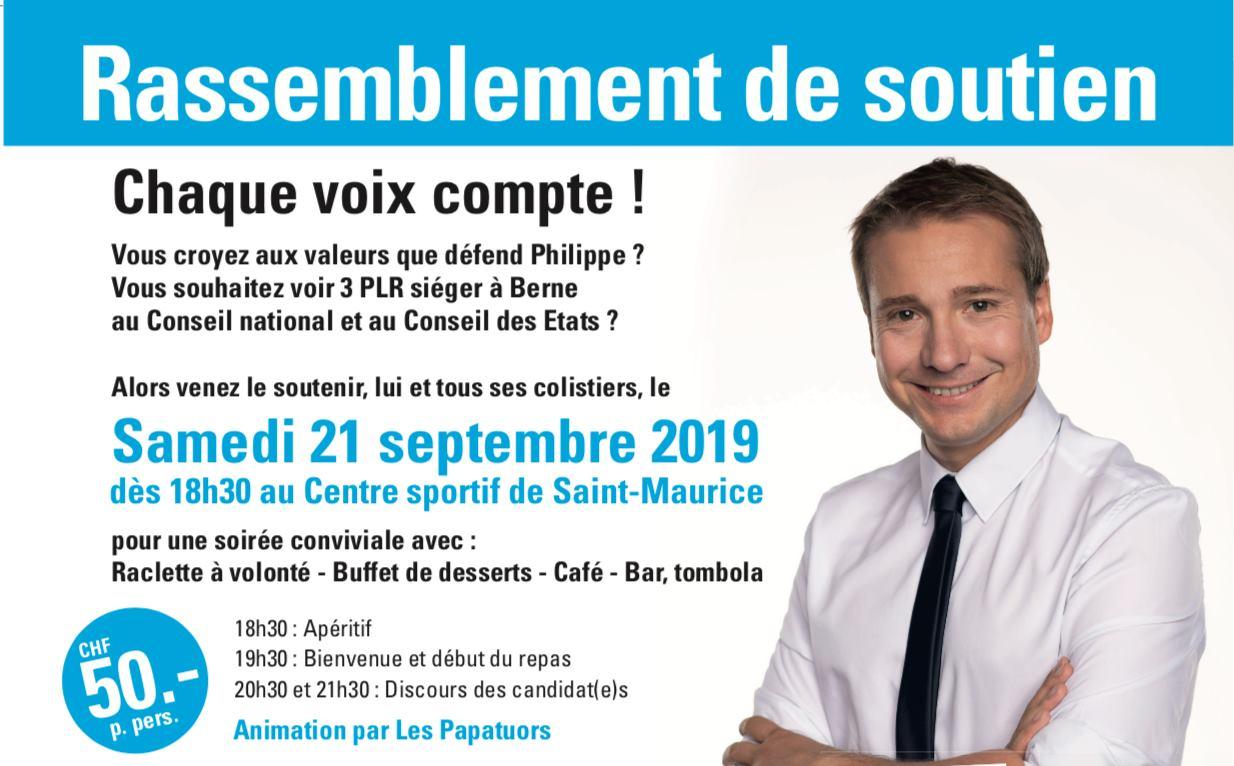 Elections fédérales : souper de soutien pour Philippe Nantermod
