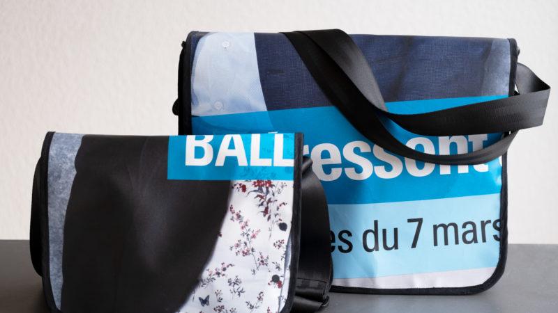 Nos banderoles transformées en sacs !